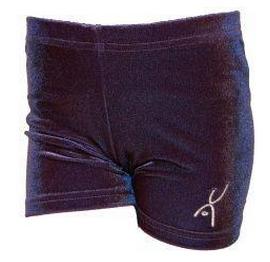 Hotpant donker blauw glad velours