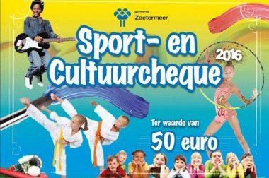 Sport en Cultuurcheque 2016